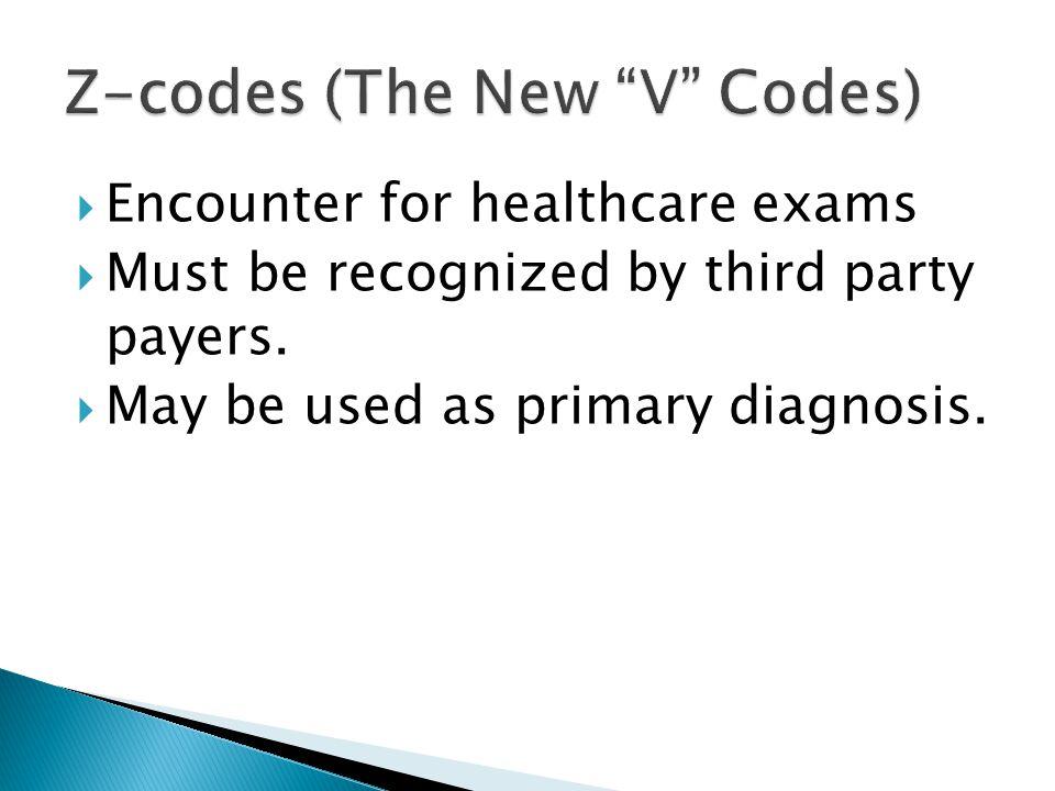 Z-codes (The New V Codes)