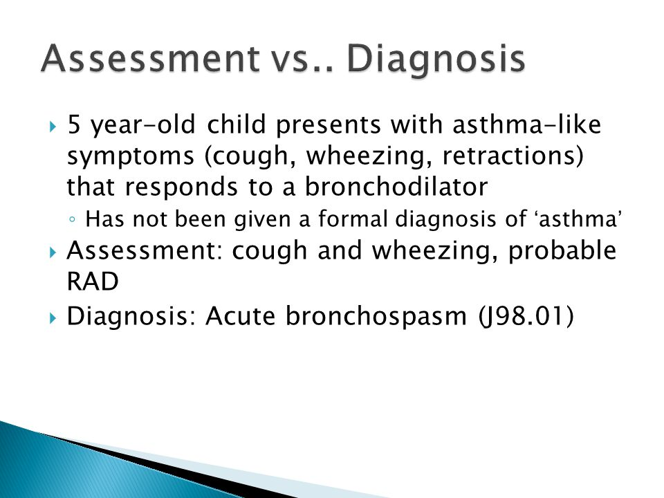 Assessment vs.. Diagnosis