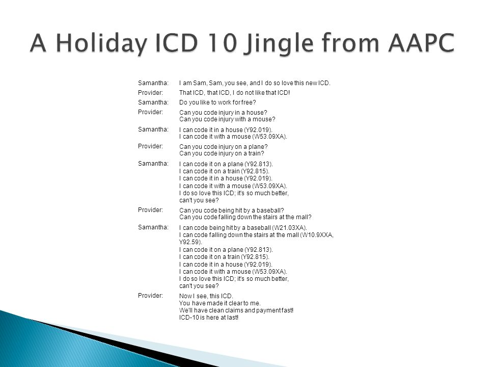 A Holiday ICD 10 Jingle from AAPC