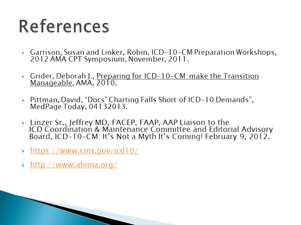 References Linzer Sr., Jeffrey MD, FACEP, FAAP, AAP Liaison to the