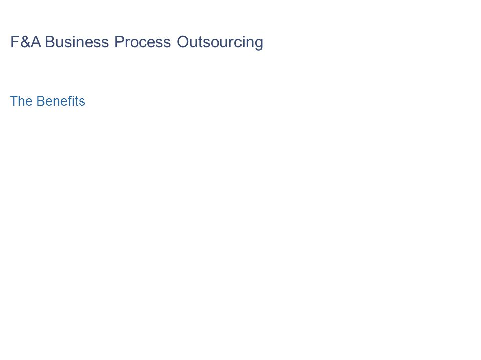 F&A Business Process Outsourcing