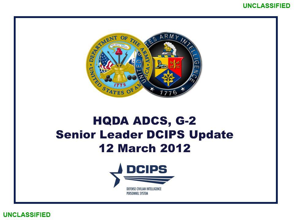 Senior Leader DCIPS Update