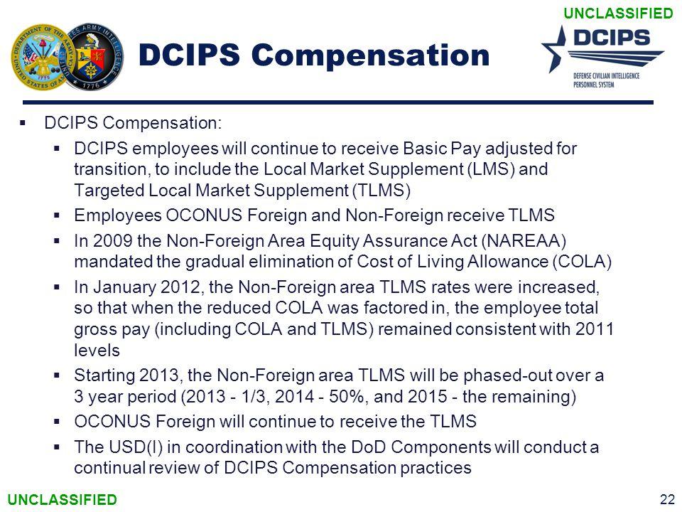 DCIPS Compensation DCIPS Compensation: