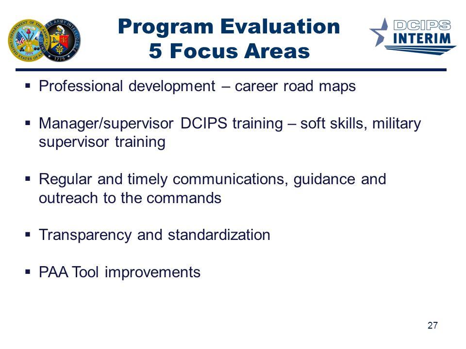 Program Evaluation 5 Focus Areas