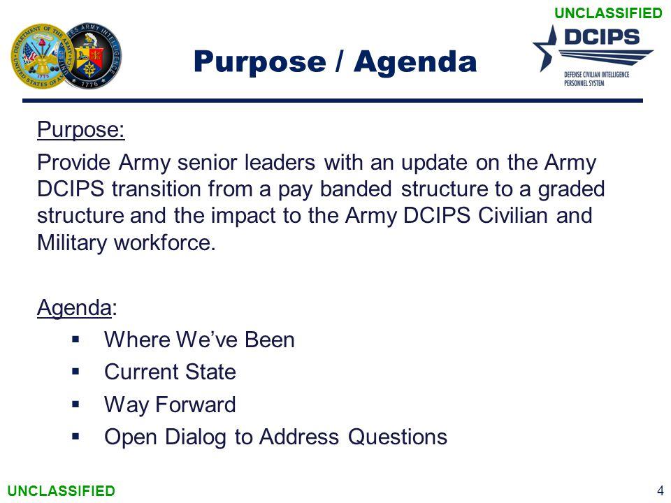 Purpose / Agenda Purpose: