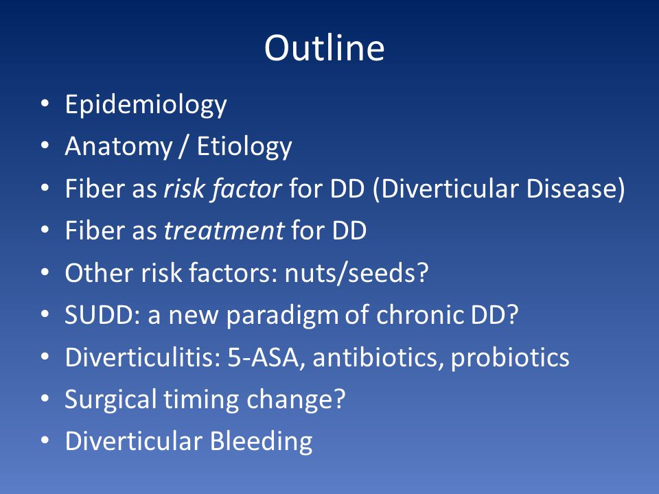 Outline Epidemiology Anatomy / Etiology