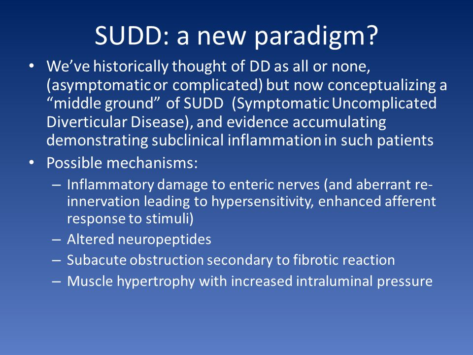 SUDD: a new paradigm