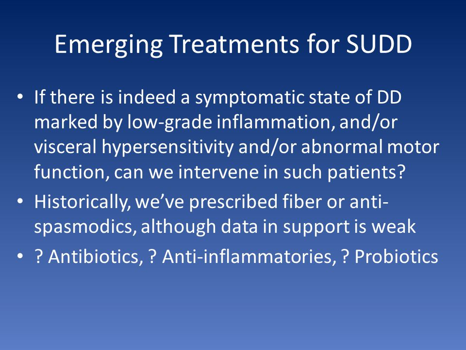 Emerging Treatments for SUDD