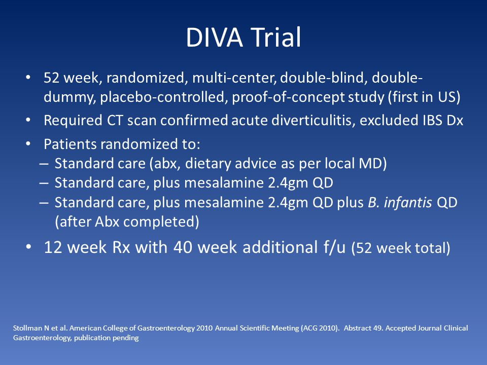 DIVA Trial 12 week Rx with 40 week additional f/u (52 week total)