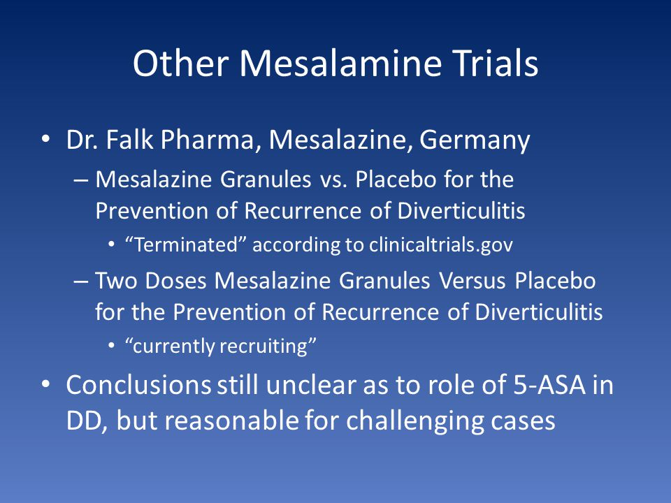 Other Mesalamine Trials