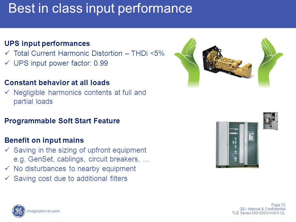 Best in class input performance