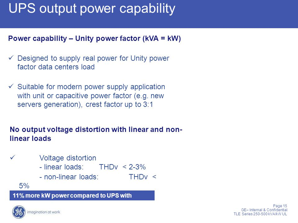 UPS output power capability