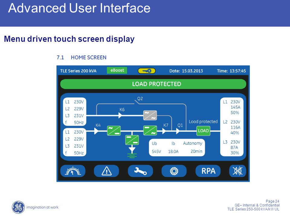 Advanced User Interface