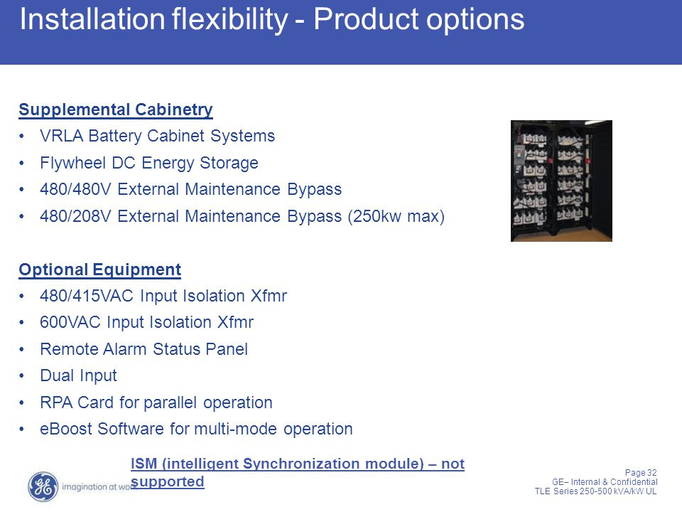 Installation flexibility - Product options