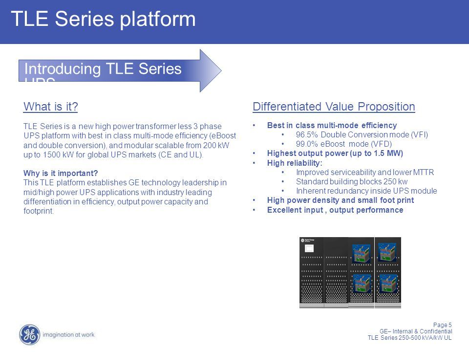 TLE Series platform Introducing TLE Series UPS What is it
