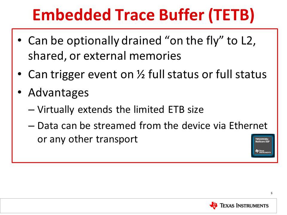 Embedded Trace Buffer (TETB)