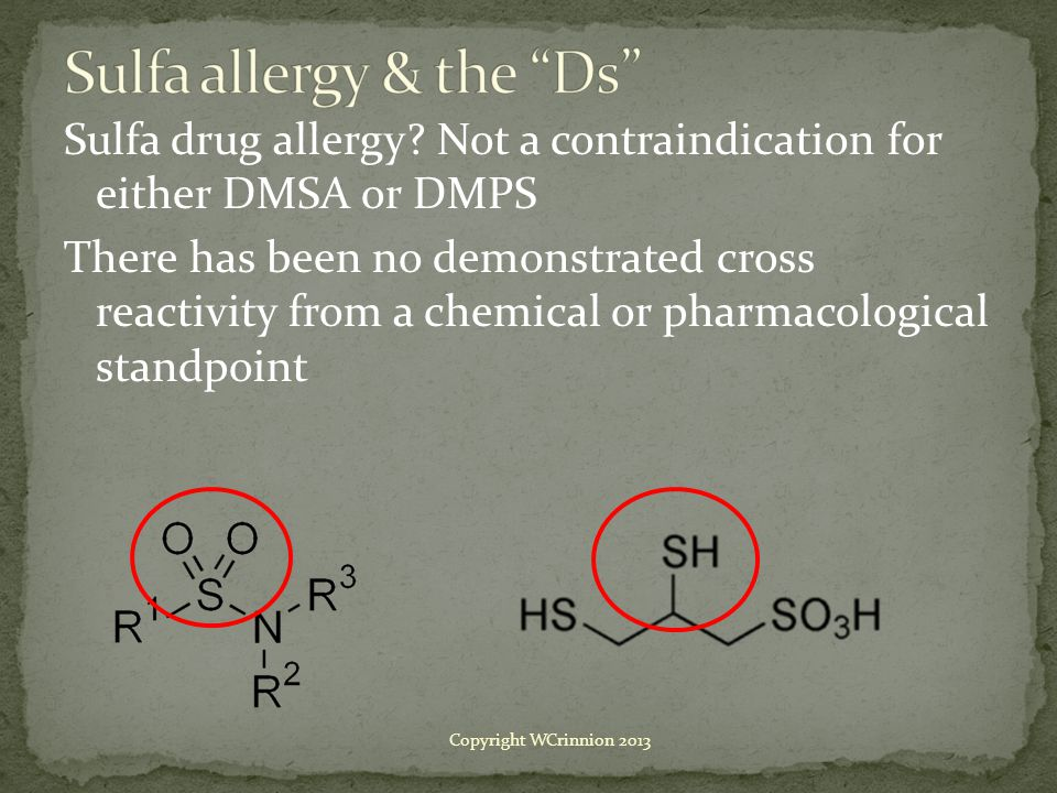 Sulfa allergy & the Ds