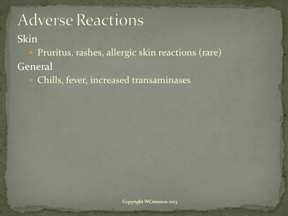 Adverse Reactions Skin General