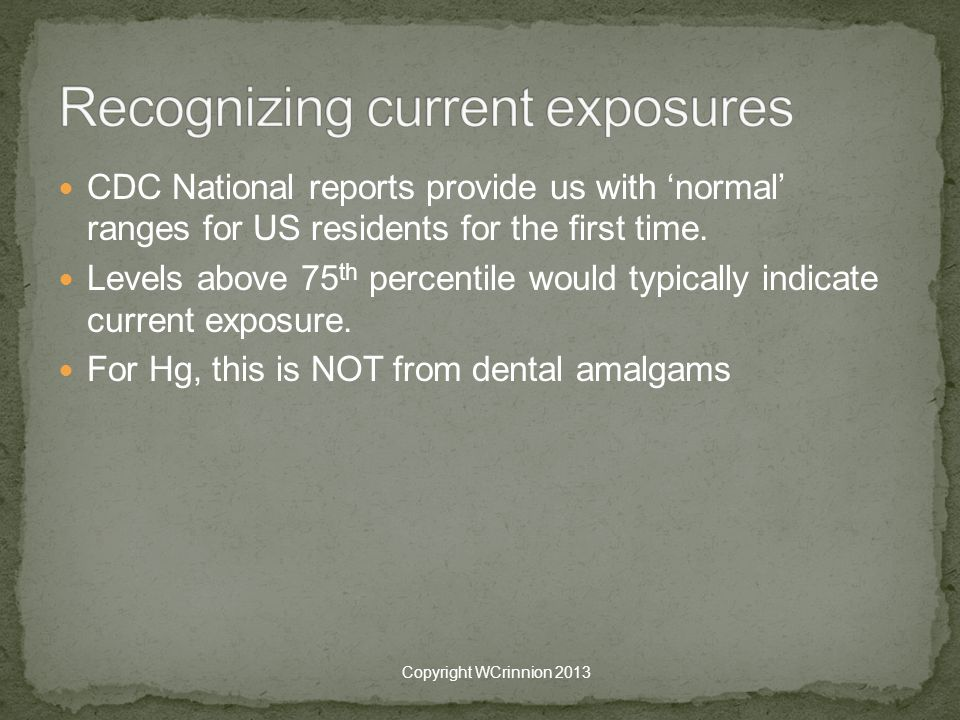 Recognizing current exposures