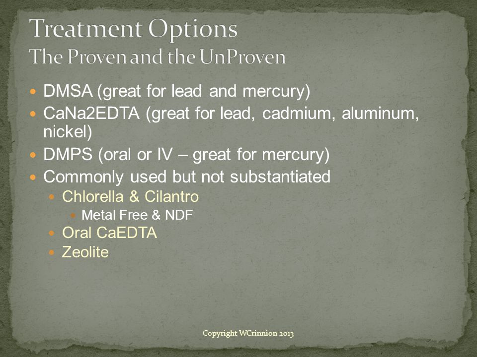 Treatment Options The Proven and the UnProven