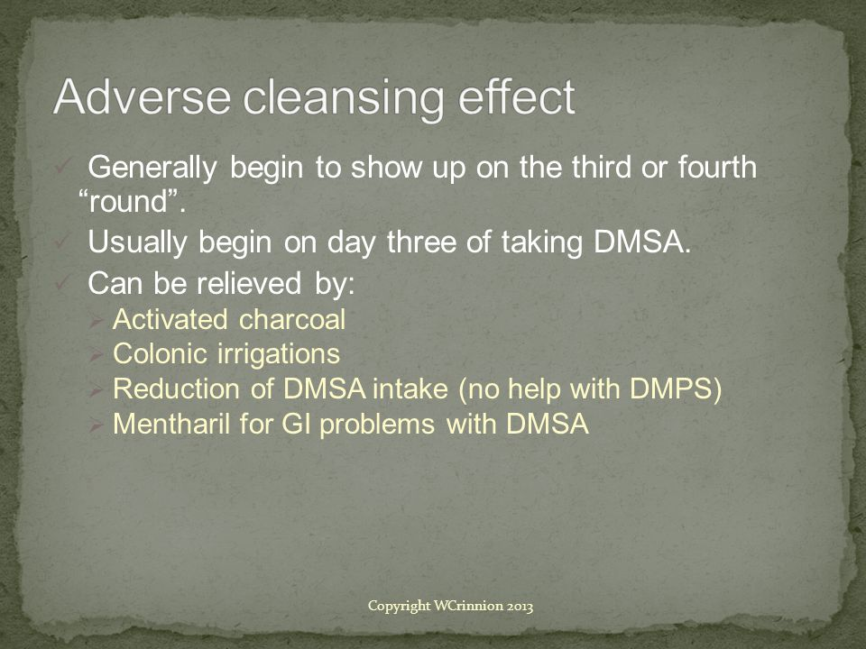 Adverse cleansing effect