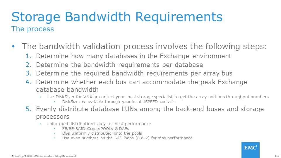 Storage Bandwidth Requirements