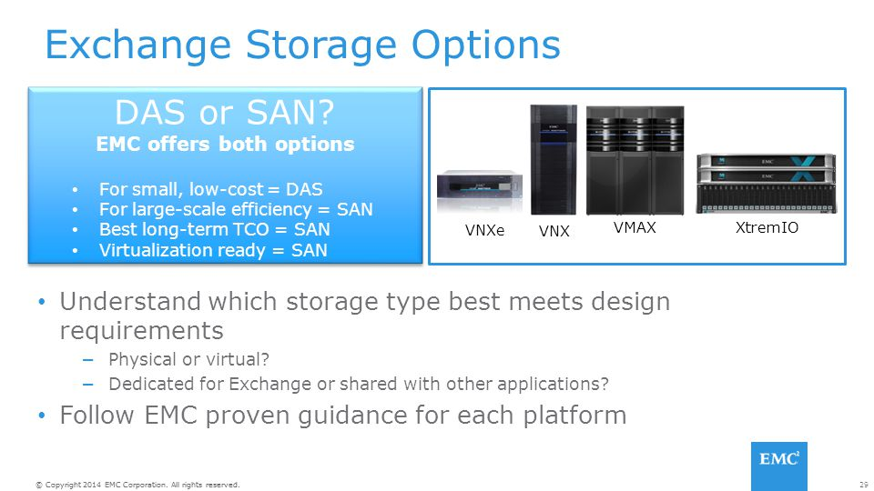 EMC offers both options