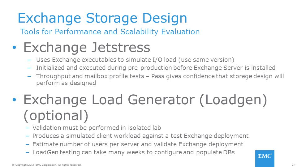 Exchange Storage Design