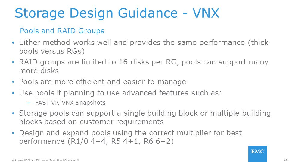 Storage Design Guidance - VNX
