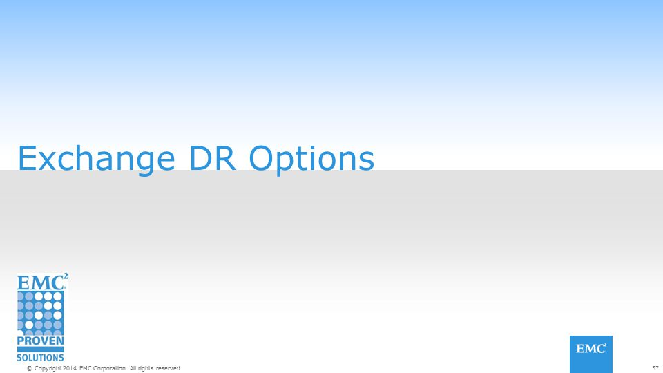 Exchange DR Options