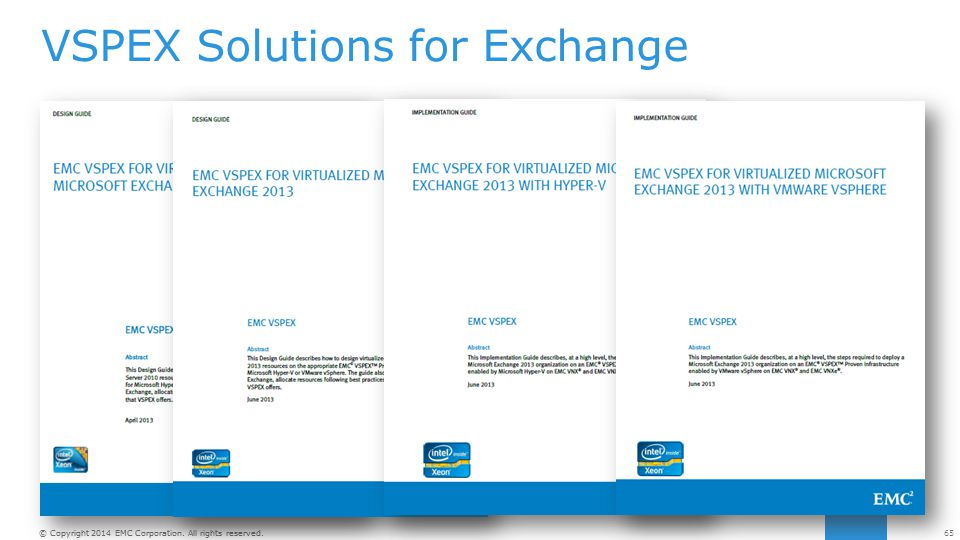 VSPEX Solutions for Exchange