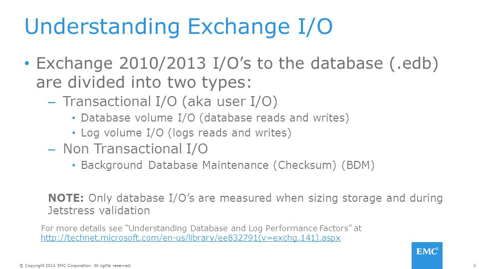 Understanding Exchange I/O