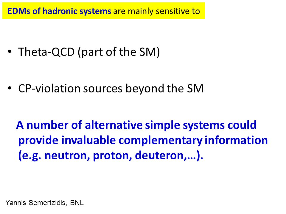 EDMs of hadronic systems are mainly sensitive to