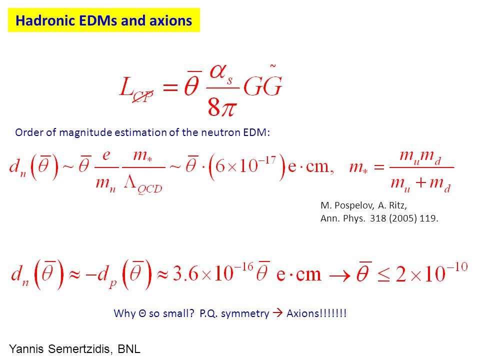 Hadronic EDMs and axions