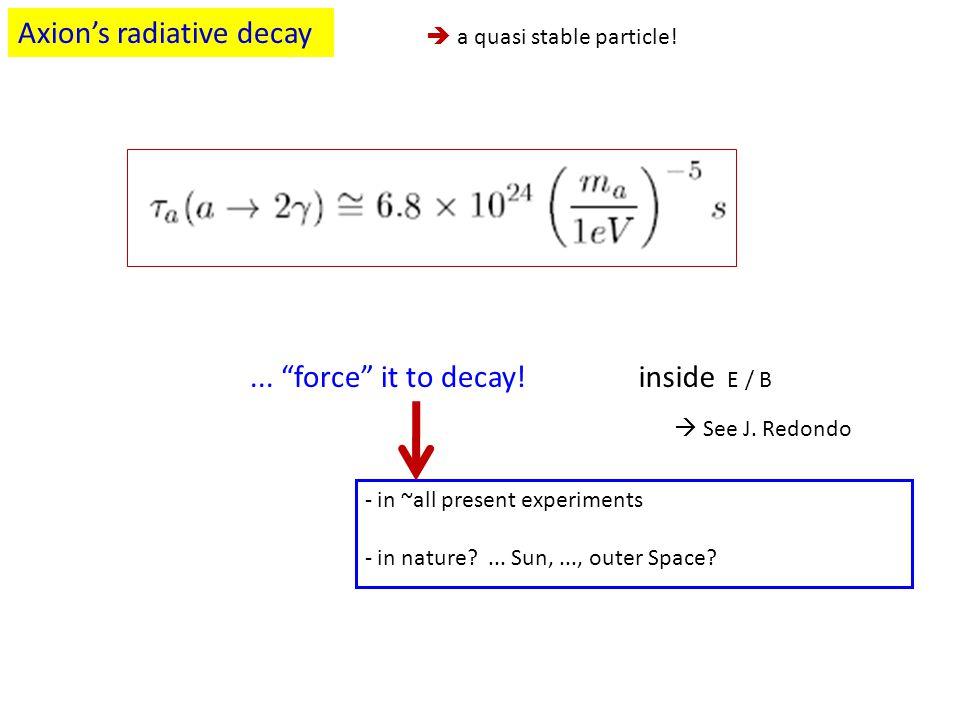 Axion's radiative decay