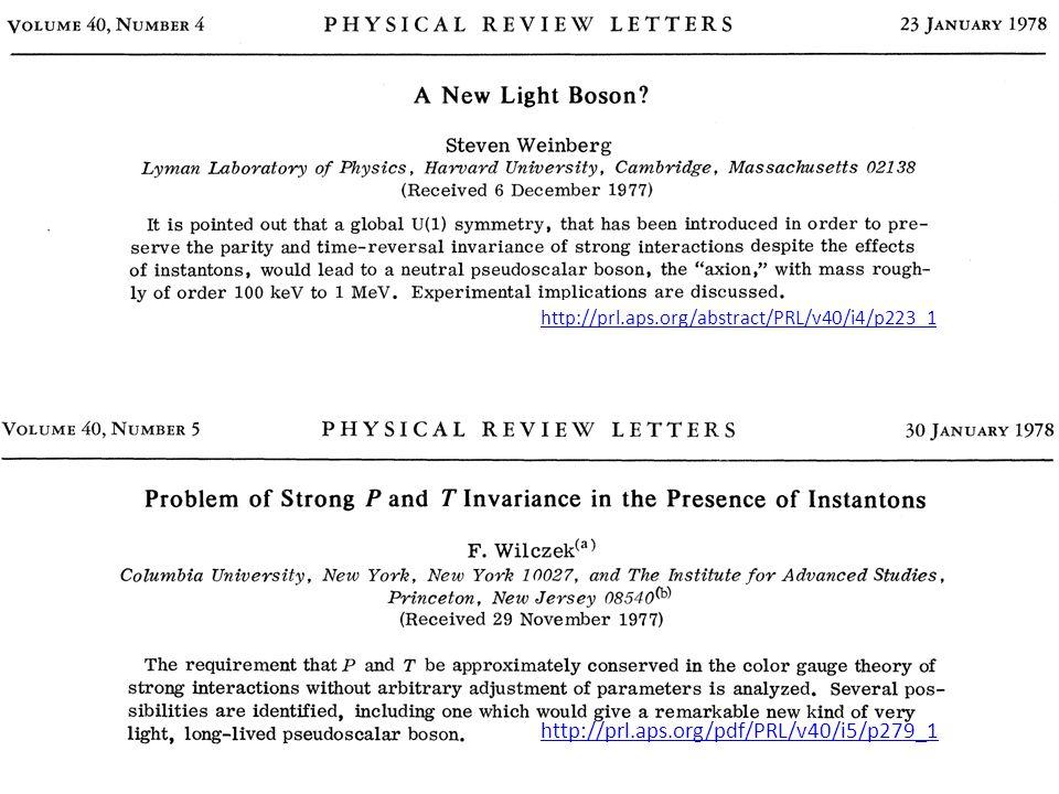 http://prl.aps.org/abstract/PRL/v40/i4/p223_1 http://prl.aps.org/pdf/PRL/v40/i5/p279_1