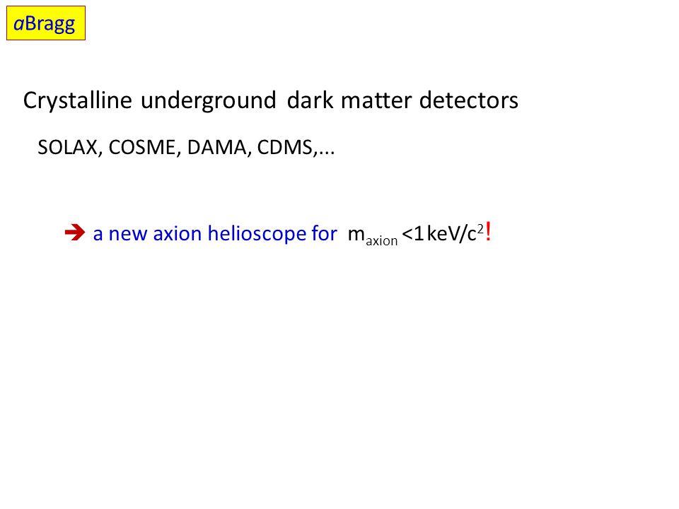 Crystalline underground dark matter detectors