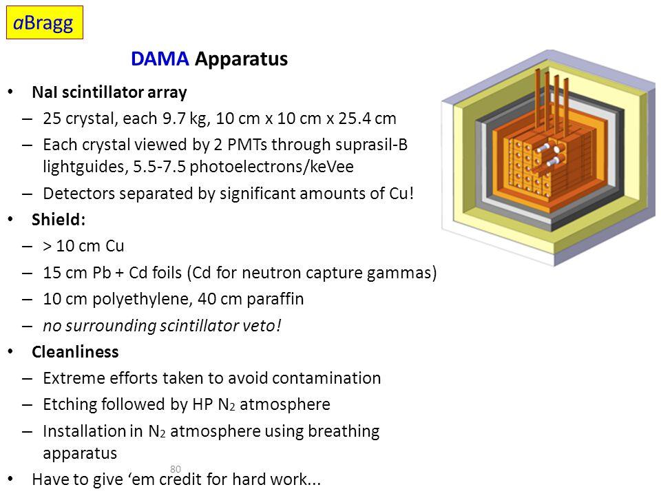 aBragg DAMA Apparatus NaI scintillator array