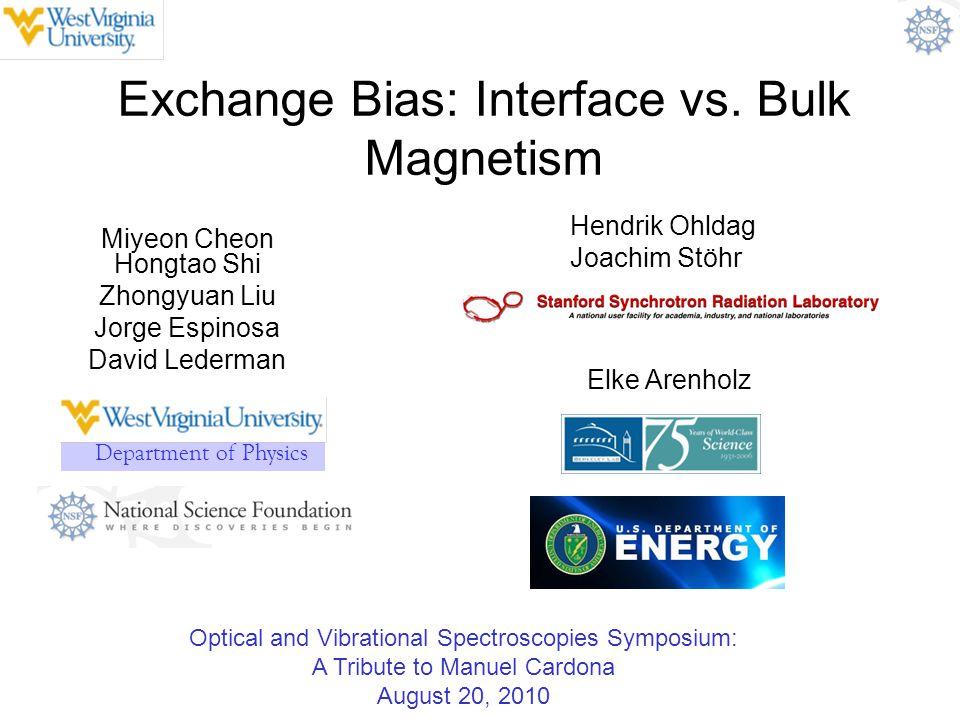 Exchange Bias: Interface vs. Bulk Magnetism