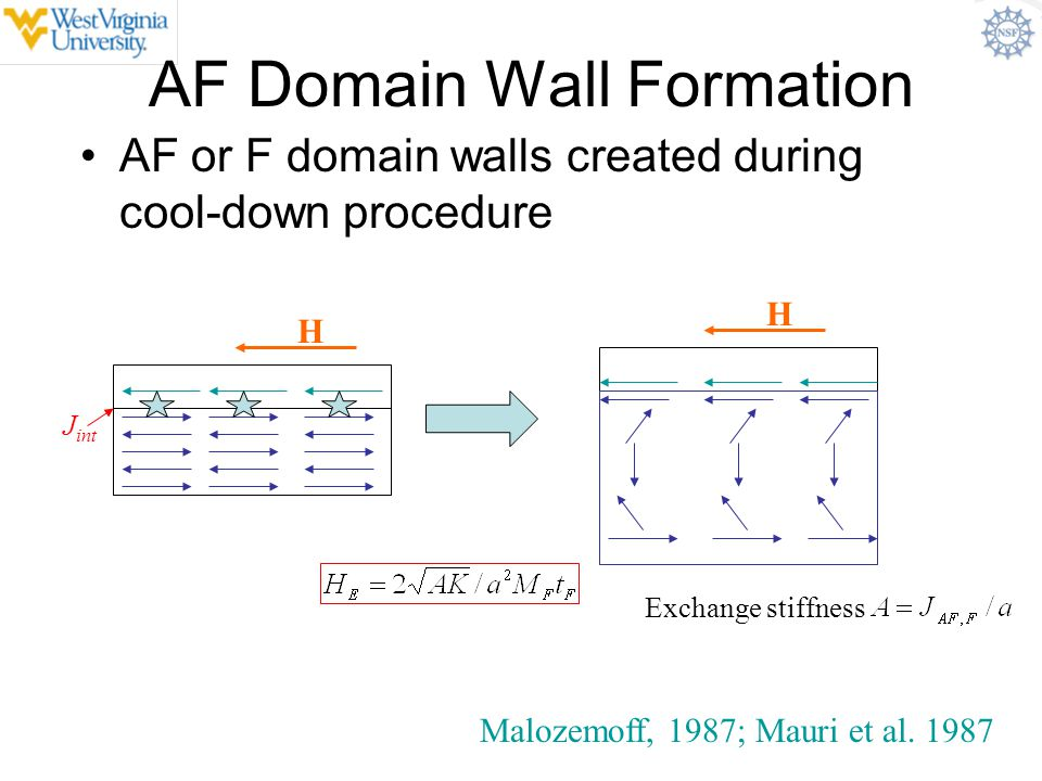 AF Domain Wall Formation