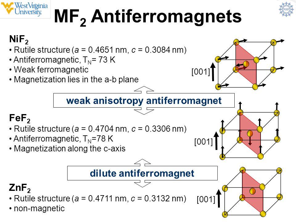 weak anisotropy antiferromagnet dilute antiferromagnet