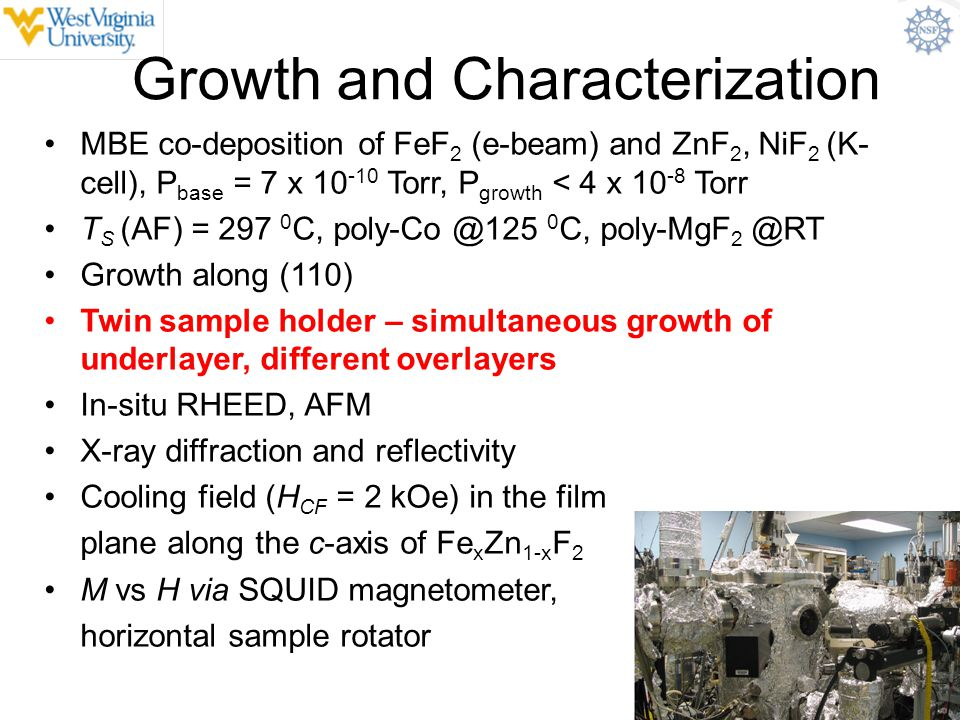Growth and Characterization