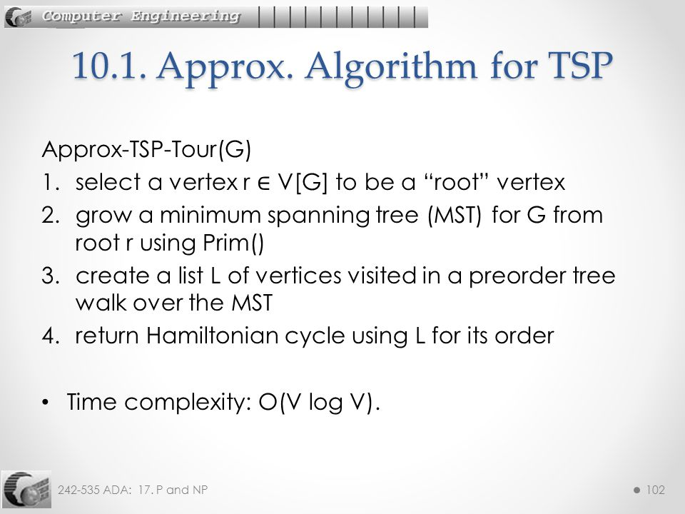 10.1. Approx. Algorithm for TSP