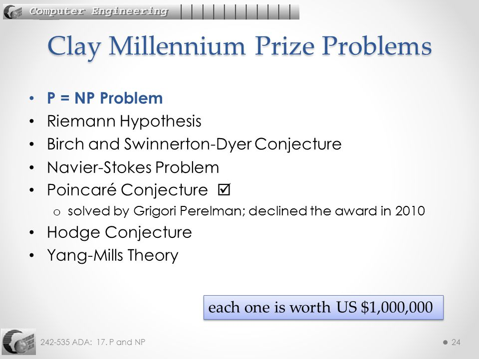 Clay Millennium Prize Problems