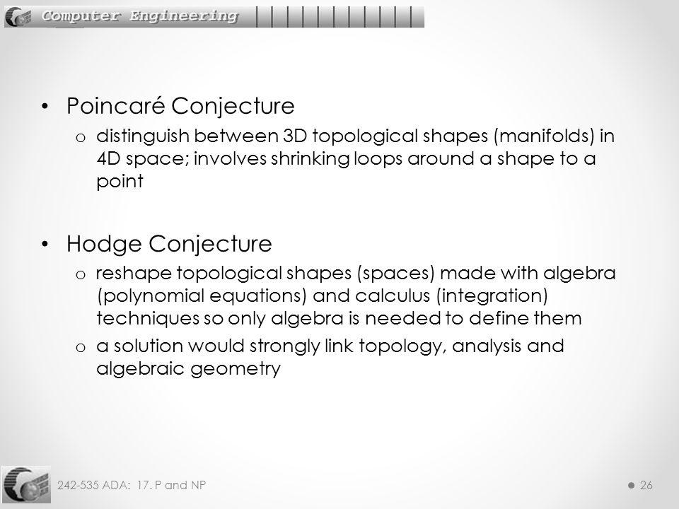 Poincaré Conjecture Hodge Conjecture