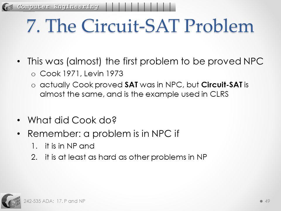 7. The Circuit-SAT Problem