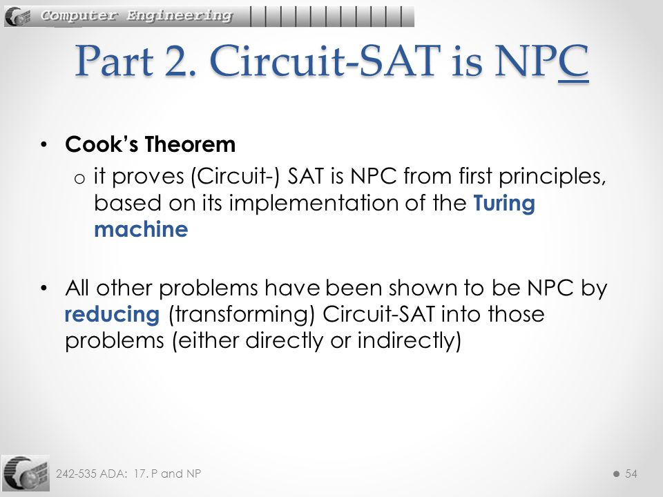 Part 2. Circuit-SAT is NPC