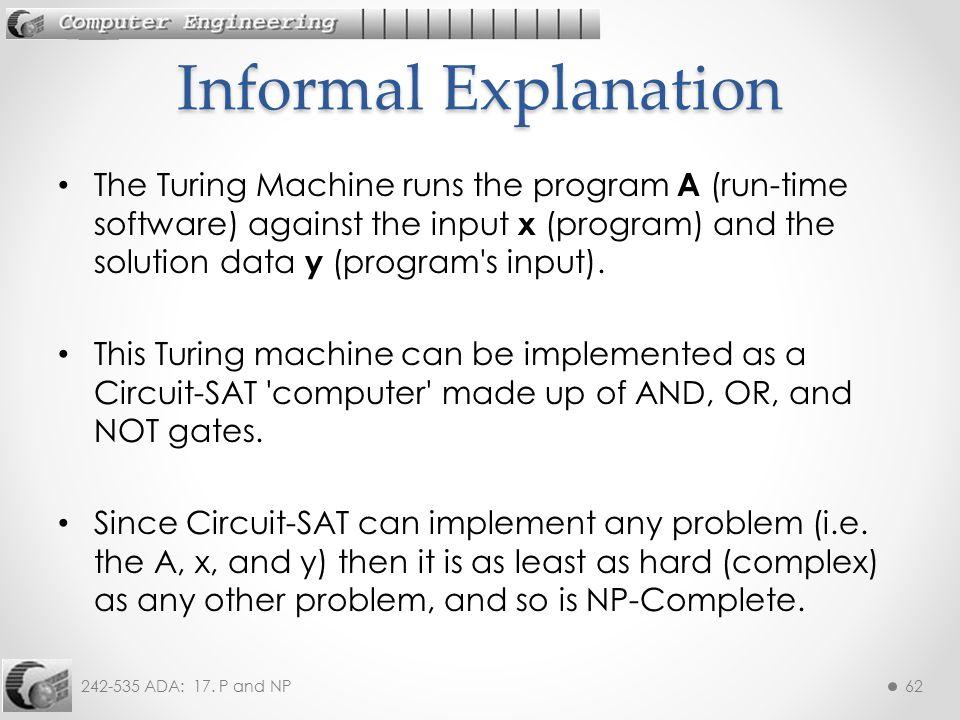 Informal Explanation