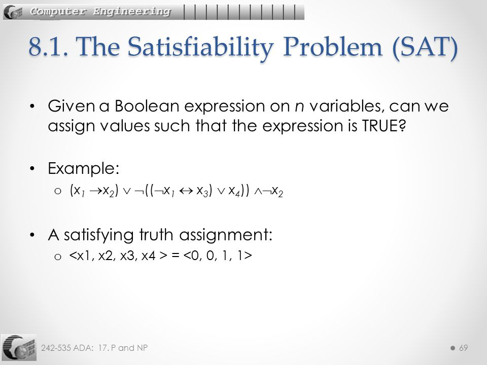 8.1. The Satisfiability Problem (SAT)