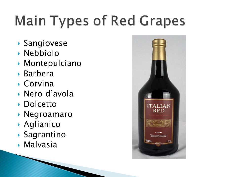 Main Types of Red Grapes